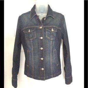 Tommy Hilfiger Fitted Blue Jean Jacket
